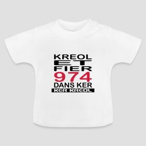 T-shirt Bébé Kreol et Fier 974 - 974 Ker Kreol - T-shirt Bébé