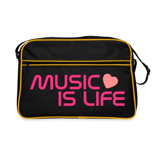 Sac rétro Music is life - Sac Retro