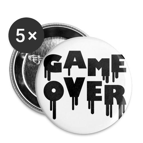 Przypinka mała Game Over 5 sztuk - Przypinka mała 25 mm