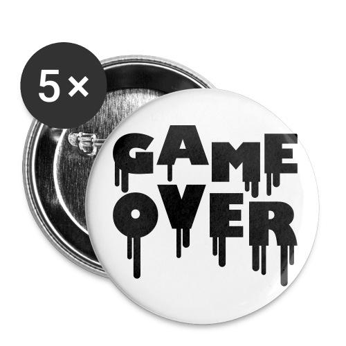 Przypinka duza Game Over - Przypinka duża 56 mm