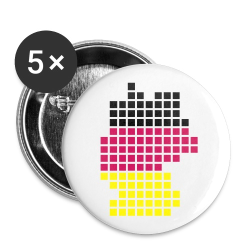Germany... - Buttons klein 25 mm (5er Pack)