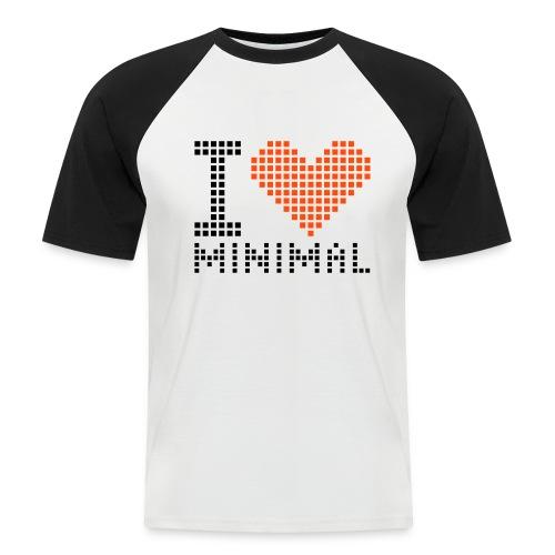 I HEART MINIMAL - ELECTRO - Men's Baseball T-Shirt