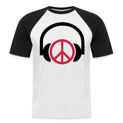 HEADPHONES PEACE - Men's Baseball T-Shirt