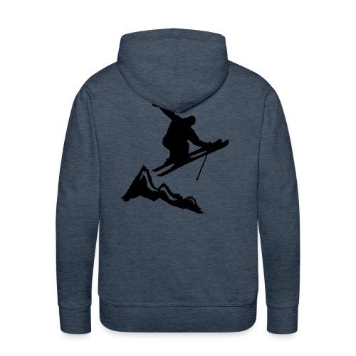 Ski Cliff Jump hoodie - Men's Premium Hoodie