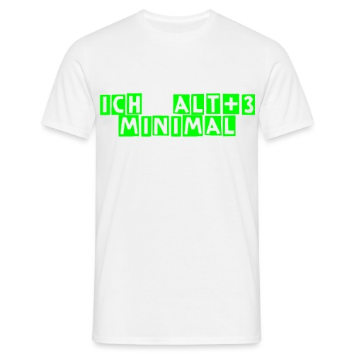 Minimal Alt+3 Men white/neon green - Männer T-Shirt