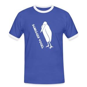 t-shirt schräger vogel witz humor komisch flügel feder tiershirt t-shirt tier - Männer Kontrast-T-Shirt