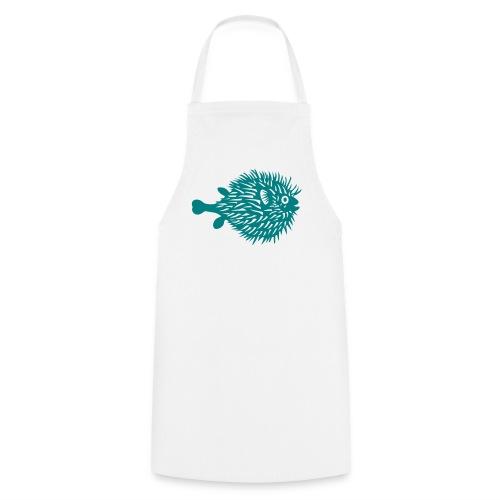 schürze kochschürze grill schürze kugelfisch blowfish fisch angler schwanger bauch bierbauch mutter mama baby inside tiershirt t-shirt tier - Kochschürze