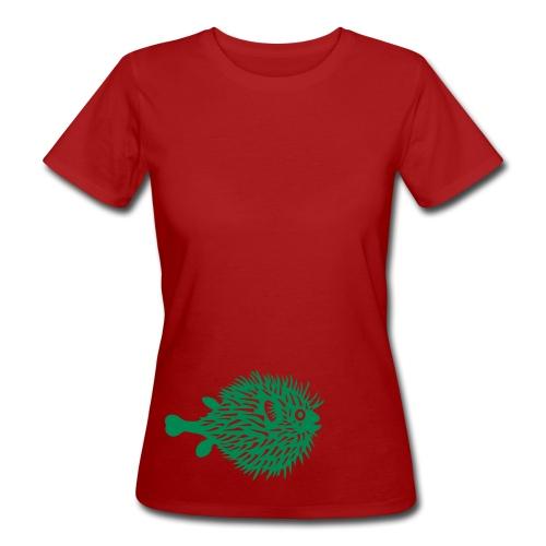 t-shirt kugelfisch blowfish fisch angler schwanger bauch bierbauch mutter mama baby inside tiershirt t-shirt tier - Frauen Bio-T-Shirt