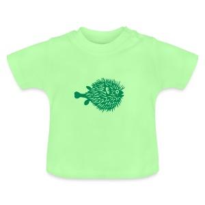 t-shirt kugelfisch blowfish fisch angler schwanger bauch bierbauch mutter mama baby inside tiershirt t-shirt tier - Baby T-Shirt