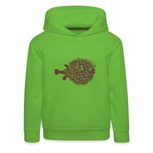 t-shirt kugelfisch blowfish fisch angler schwanger bauch bierbauch mutter mama baby inside tiershirt t-shirt tier - Kinder Premium Hoodie