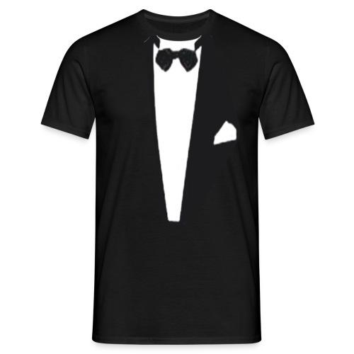 esmoquin negro con pajarita - Camiseta hombre