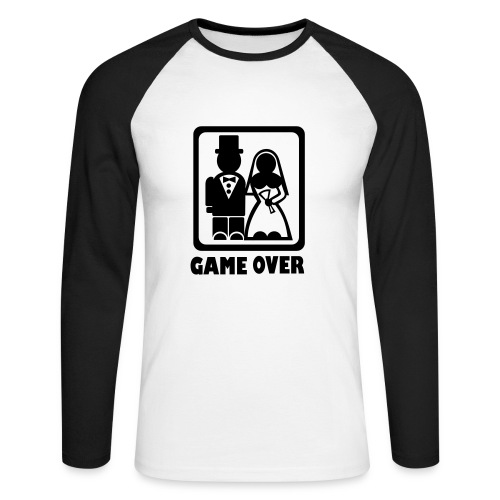 Game Over - married - Men's Long Sleeve Baseball T-Shirt