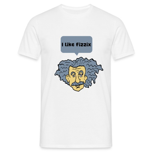 Einstein likes fizzix for men - Men's T-Shirt