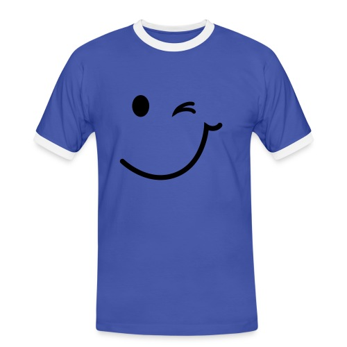 Smile ! - Männer Kontrast-T-Shirt