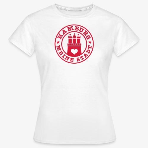 HAMBURG MEINE STADT Wappen Herz Frauen T-Shirt weiss + alle Farben - Frauen T-Shirt