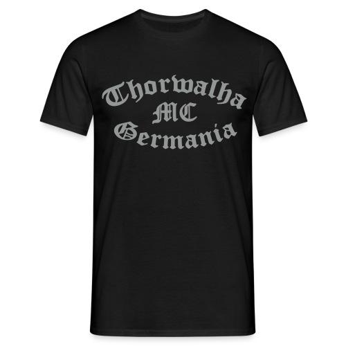TW - T Shirt - Schriftfarbe Silbergrau - Männer T-Shirt