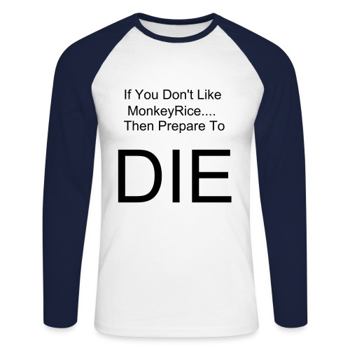 MonkeyRice Defend - Men's Long Sleeve Baseball T-Shirt