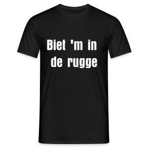 Gronings T-shirt Biet 'm in de rugge  - Mannen T-shirt