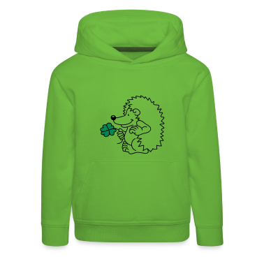 The little hedgehog with the clover leaf Kids' Tops