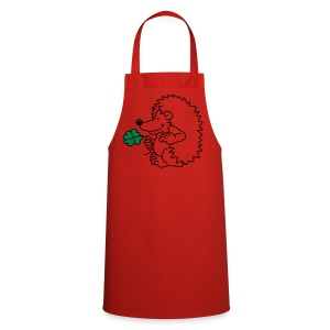 The little hedgehog with the clover leaf  Aprons - Cooking Apron