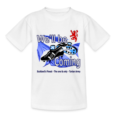 Tartan Army We'll be Coming Scottish kids white Classic
