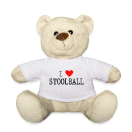 I Love Stoolball Teddy Bear