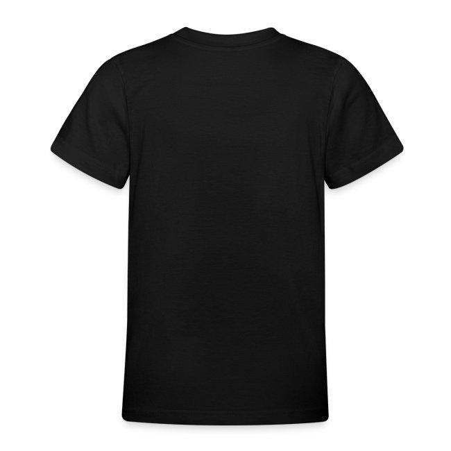 Barn T-skjorte med sort logo i flock-trykk