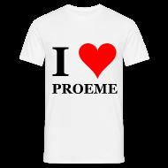 T-shirts ~ Mannen T-shirt ~ Gronings T-shirt I love proeme / pussy