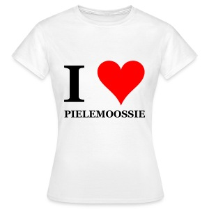 Gronings girlieshirt I love pielemoossie / I love dick - Vrouwen T-shirt