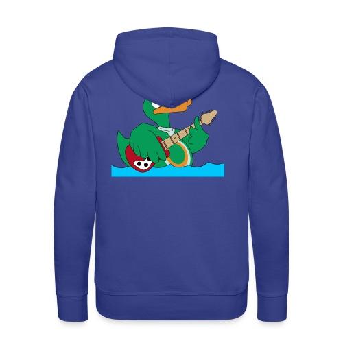 Rocky Kapuzenpullover duck@rock (Logo gelb-weiß) - Männer Premium Hoodie