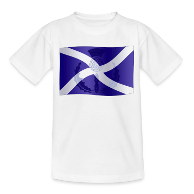 Scottish Saltire Flag with Celtic Thistle