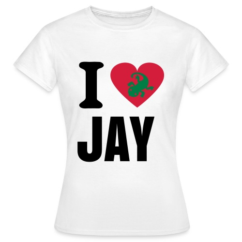 I Love Jay, Lizard T-Shirt - Women's T-Shirt