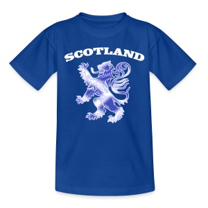 Scotland with Lion Rampant and Saltire Flag - Teenage T-shirt