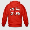 English Lion Passant with St George's Cross - Men's Premium Hooded Jacket