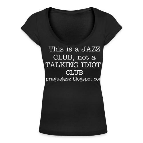 Idiot Woman - Women's Scoop Neck T-Shirt
