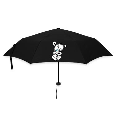 Small dog as a pirate with eye patch and anchor tattoo Umbrellas