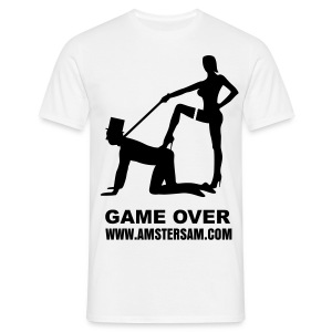 Men's Classic T-Shirt 'Game Over' White/Black - Men's T-Shirt