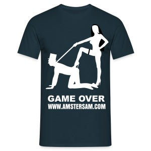 Men's Classic T-Shirt 'Game Over' Navy/White - Men's T-Shirt