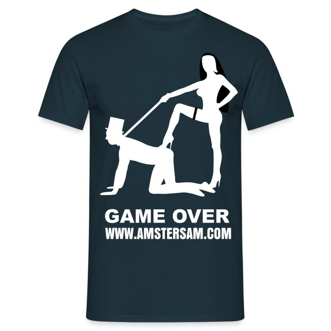 Men's Classic T-Shirt 'Game Over' Navy/White