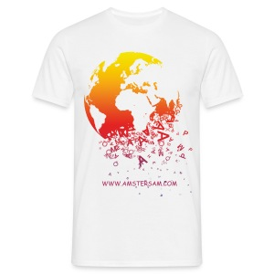Men's Classic T-Shirt 'The World' White/Red - Men's T-Shirt