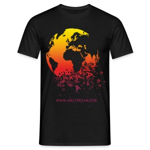 Men's Classic T-Shirt 'The World' Black/Red - Men's T-Shirt