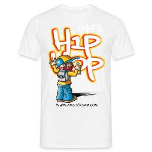 Men's Classic T-Shirt 'That's HipHop' White/Orange - Men's T-Shirt
