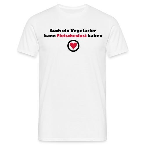 Vegetarier-Fleischeslust - Männer T-Shirt