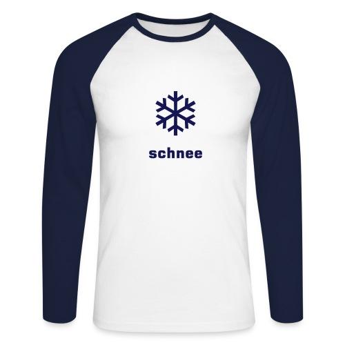 Schnee [Lang-arm] - Männer Baseballshirt langarm