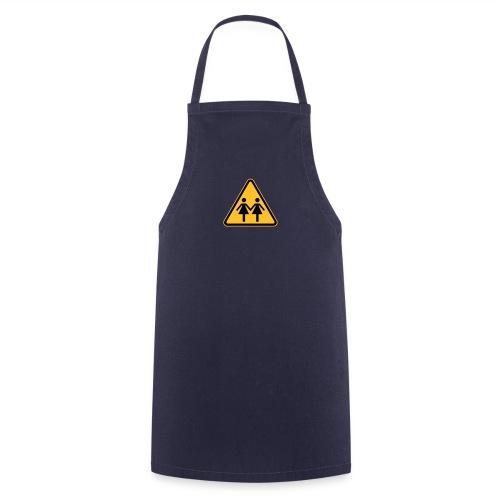 Lesben Shop: Kochschürze mit Lesbenmotiv ACHTUNG LESBEN POWER - Kochschürze