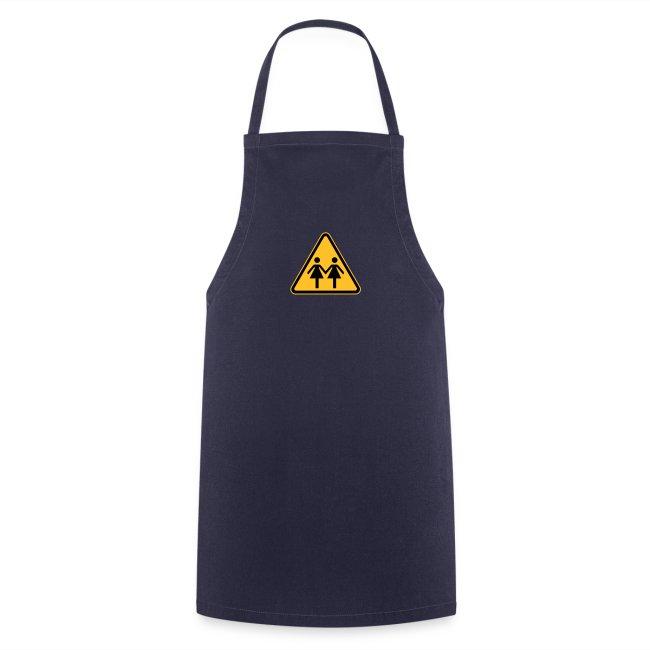 Lesben Shop: Kochschürze mit Lesbenmotiv ACHTUNG LESBEN POWER