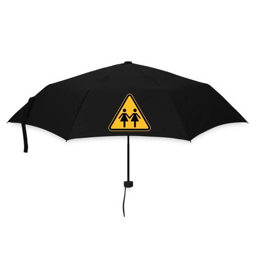 Lesben Shop: Regenschirm mit Lesbensymbol ACHTUNG LESBEN POWER - Regenschirm (klein)