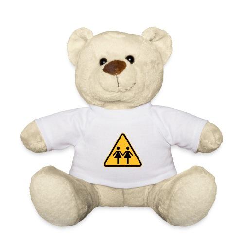 Lesben Shop: Teddy Knuddelbärchen Plüschtier ACHTUNG LESBEN POWER - Teddy