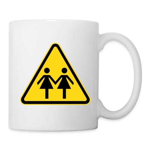 Lesben Shop: Tasse ACHTUNG LESBEN POWER mit Frauenzeichen - Tasse