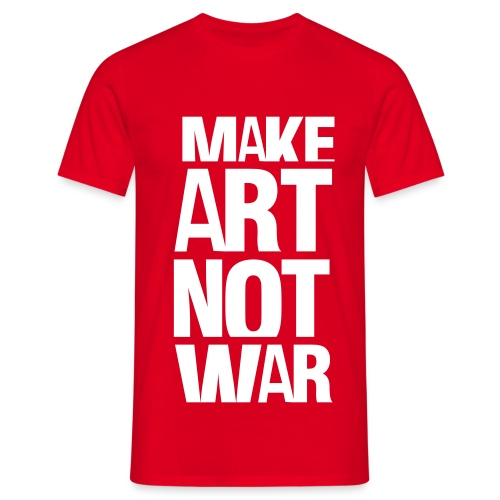 Make art, Not war! - T-skjorte for menn